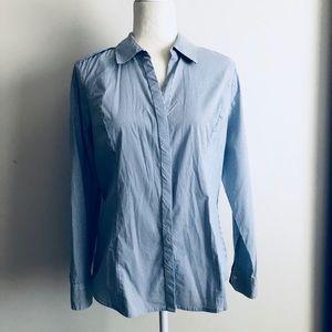 Express white/blue stripes original essential top